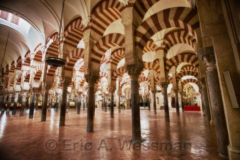Interior of the Mezquita, Córdoba, Spain.