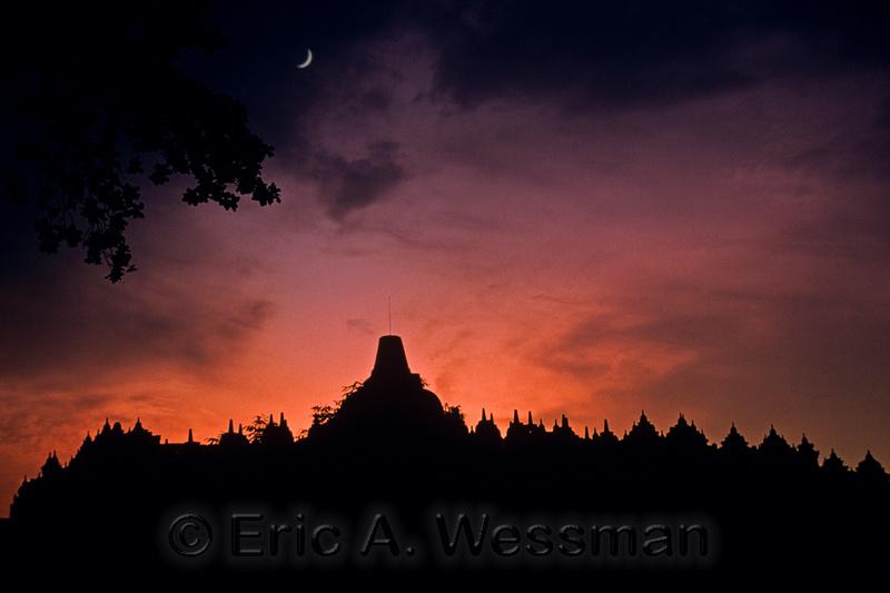 Buddhist monument of Borobudur, Java, Indonesia.