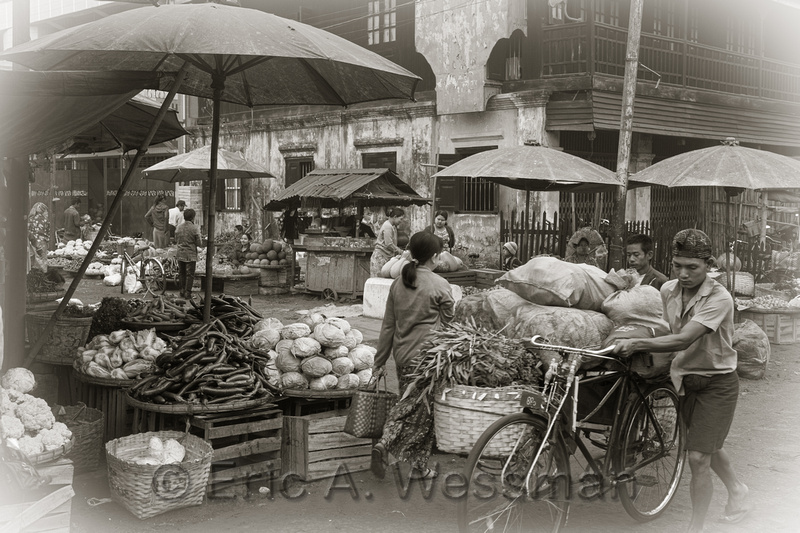 Morning Market Scene