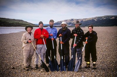 Eric A. Wessman and friends, Horton River, Northwest Territories, Canada