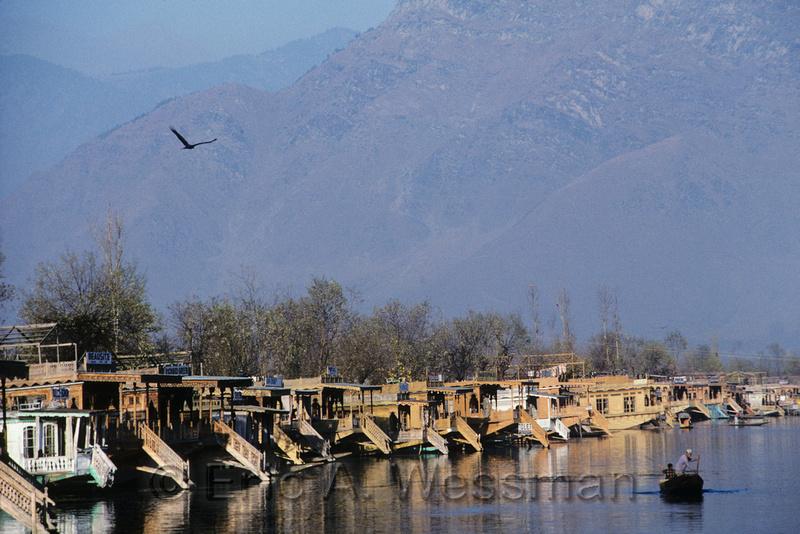 Houseboats on Dal Lake