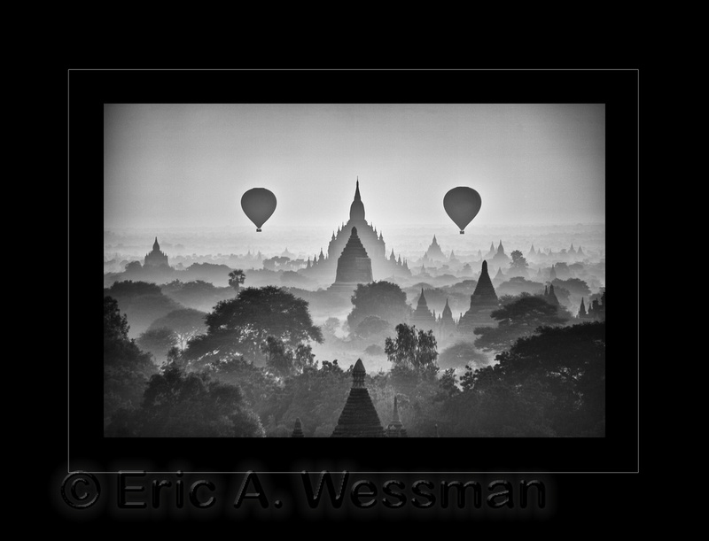 Sunrise view from Nyien Gon Pagoda. Bagan, Myanmar.