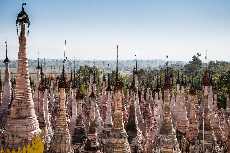 Stupas and Countryside