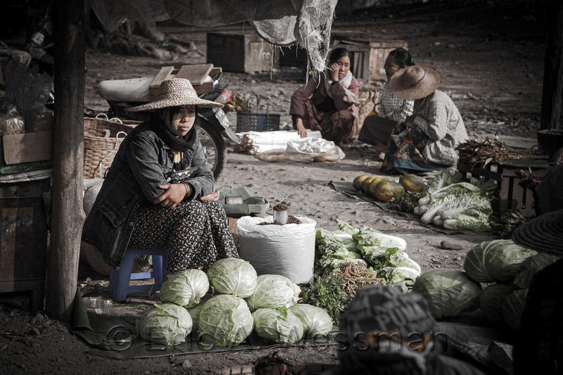 Produce Vendor in Market