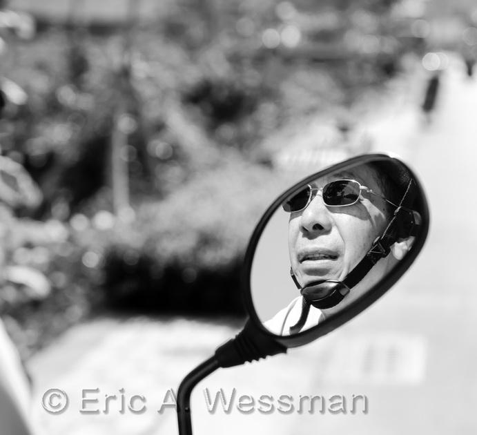 Motorcycle Man BW