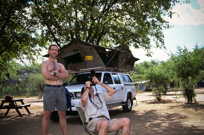 Photographer Eric A. Wessman in camp, Kruger National Park, South Africa